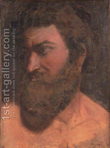 Study for Anacreon by Jean Auguste Dominique Ingres - Reproduction Oil Painting