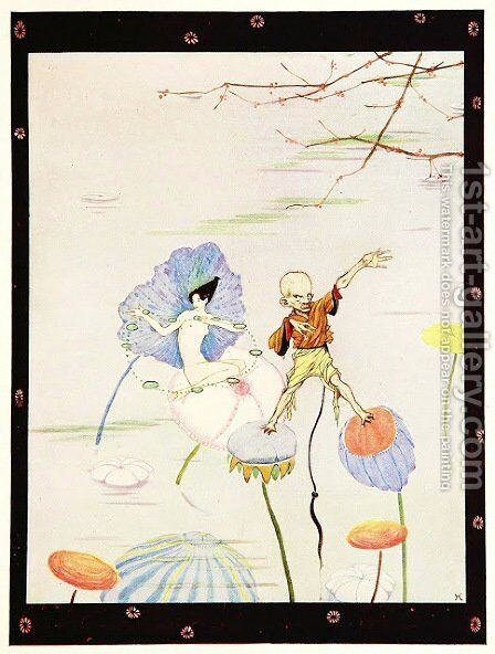 The Year's at the Spring 18 by Harry Clarke - Reproduction Oil Painting