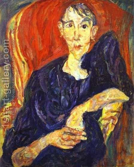 Polish Woman by Chaim Soutine - Reproduction Oil Painting