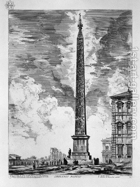 View of the Square and Basilica of St. John Lateran by Giovanni Battista Piranesi - Reproduction Oil Painting