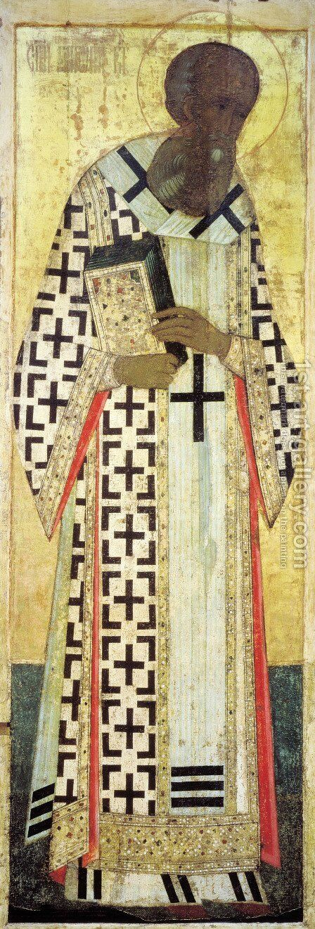 Gregory the Theologian by Andrei Rublev - Reproduction Oil Painting