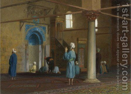 Prayer in the Mosque 2 by Jean-Léon Gérôme - Reproduction Oil Painting
