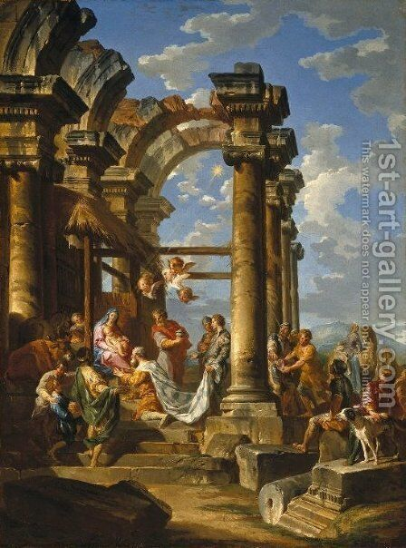 The Adoration of the Magi by Giovanni Paolo Panini - Reproduction Oil Painting