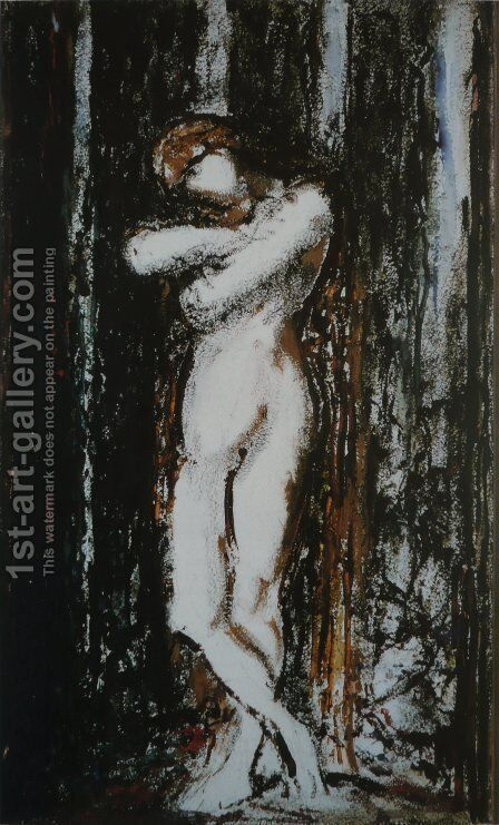 Nu. Draft by Gustave Moreau - Reproduction Oil Painting