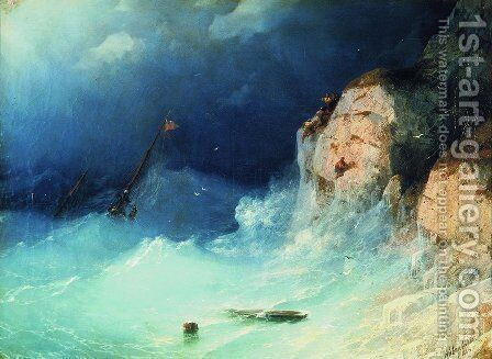 The Shipwreck 13 by Ivan Konstantinovich Aivazovsky - Reproduction Oil Painting