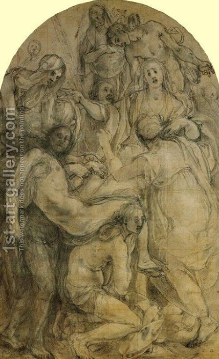 The Deposition (study) by (Jacopo Carucci) Pontormo - Reproduction Oil Painting