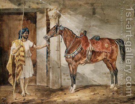 Horse (Eastern) by Theodore Gericault - Reproduction Oil Painting
