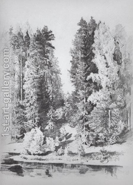 In the park by Ivan Shishkin - Reproduction Oil Painting