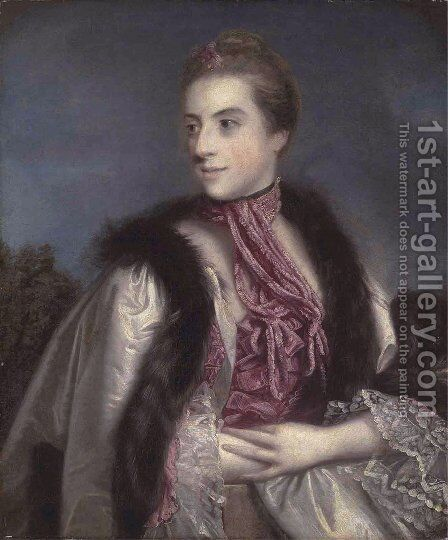 Elizabeth Drax, Countess of Berkeley by Sir Joshua Reynolds - Reproduction Oil Painting