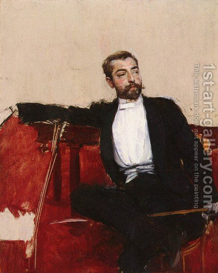 A Portrait of John Singer Sargent by Giovanni Boldini - Reproduction Oil Painting