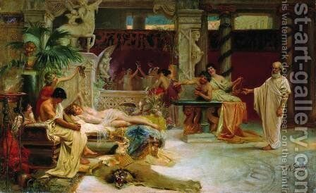 Socrates Finds his Student Alcviad at Heterai by Henryk Hector Siemiradzki - Reproduction Oil Painting
