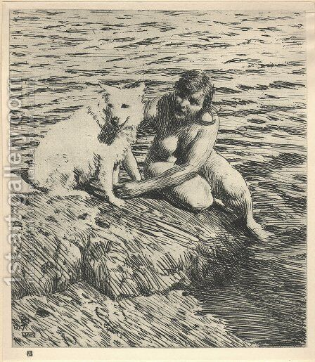 Sappho by Anders Zorn - Reproduction Oil Painting