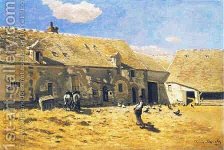 Farmyard at Chailly by Claude Oscar Monet - Reproduction Oil Painting