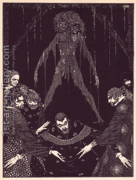 Tales of Mystery and Imagination by Edgar Allan Poe 14 by Harry Clarke - Reproduction Oil Painting