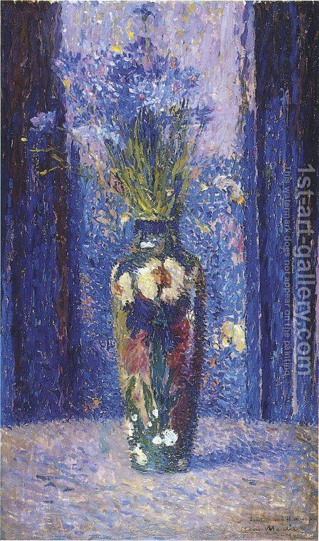 Vase of Flowers 2 by Henri Martin - Reproduction Oil Painting