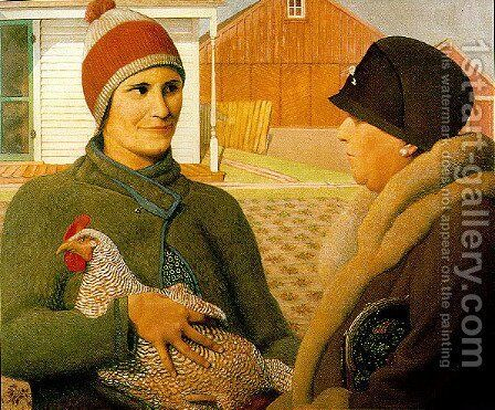 The Appraisal by Grant Wood - Reproduction Oil Painting