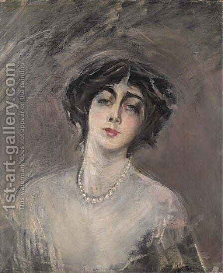 Donna Franca Florio by Giovanni Boldini - Reproduction Oil Painting