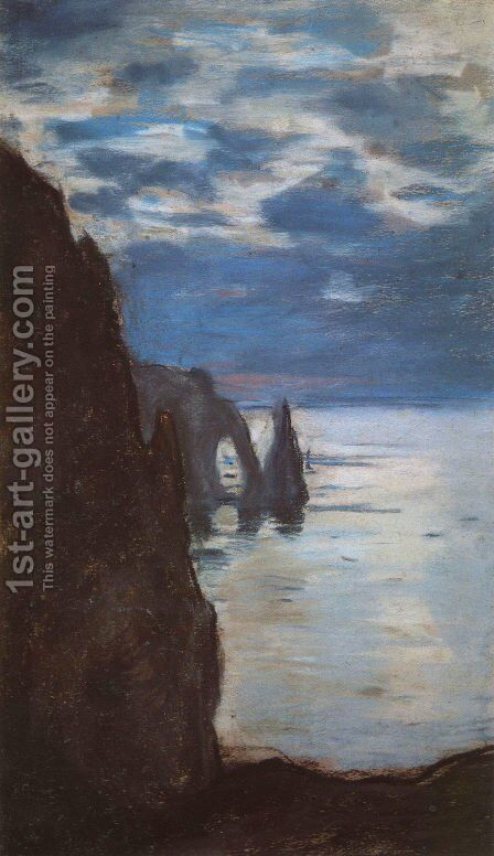 Etretat, the Needle Rock and Porte d'Aval by Claude Oscar Monet - Reproduction Oil Painting