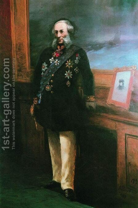 Self-portrait 2 by Ivan Konstantinovich Aivazovsky - Reproduction Oil Painting