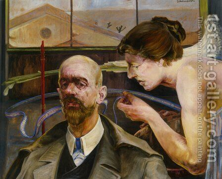 Self-Portrait 3 by Jacek Malczewski - Reproduction Oil Painting