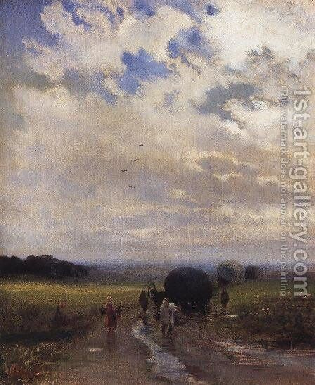 After the rain by Alexei Kondratyevich Savrasov - Reproduction Oil Painting