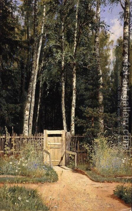 At the wicket by Ivan Shishkin - Reproduction Oil Painting