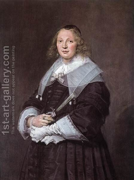 A Dutch Lady by Frans Hals - Reproduction Oil Painting