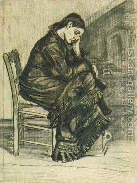 Bent Figure of a Woman Sien by Vincent Van Gogh - Reproduction Oil Painting