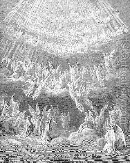 The Heaven of the Fixed Stars II by Gustave Dore - Reproduction Oil Painting