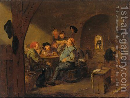 The master of drinking by Adriaen Brouwer - Reproduction Oil Painting