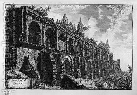 Remains of the Villa of Maecenas at Tivoli by Giovanni Battista Piranesi - Reproduction Oil Painting