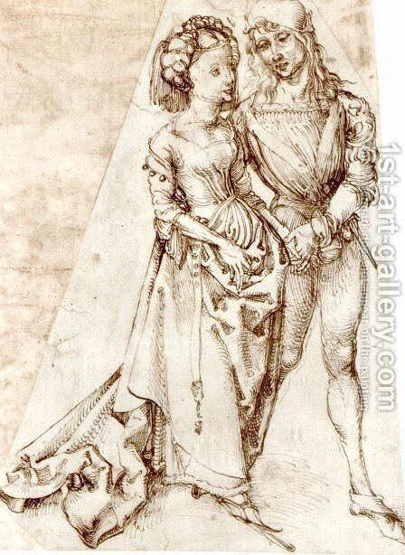 Young couple by Albrecht Durer - Reproduction Oil Painting