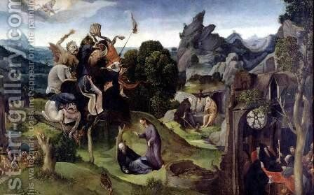 Scenes from the Life of St. Anthony Abbot  1530 by Cornelis Cornelisz. Kunst - Reproduction Oil Painting