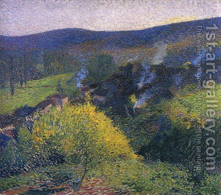 Night at the Chaumier by Henri Martin - Reproduction Oil Painting