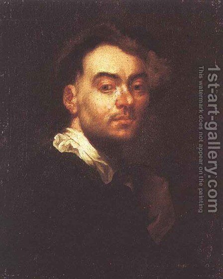 Self Portrait 1690 by Jan Kupecky - Reproduction Oil Painting