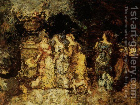 Gallant party by Adolphe Joseph Thomas Monticelli - Reproduction Oil Painting