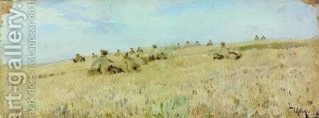 Haystacks by Isaak Ilyich Levitan - Reproduction Oil Painting