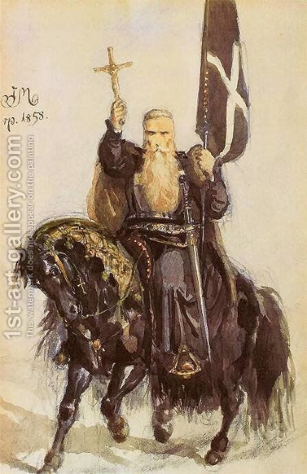 Peter the Hermit by Jan Matejko - Reproduction Oil Painting