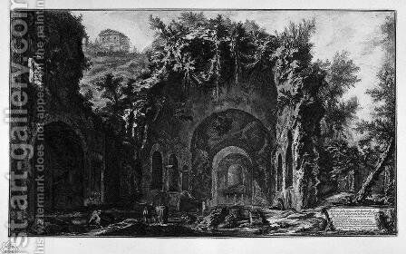 View of the Temple of Camene by Giovanni Battista Piranesi - Reproduction Oil Painting
