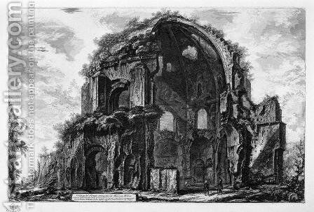 View of the Temple of Minerva Medica by Giovanni Battista Piranesi - Reproduction Oil Painting