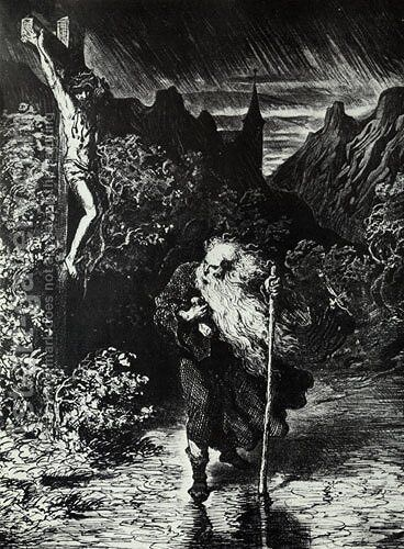 The Wandering Jew by Gustave Dore - Reproduction Oil Painting