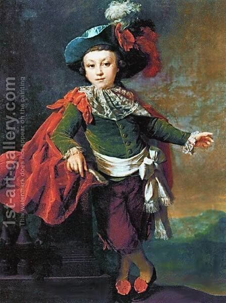 Portrait of F.P. Makerovskiy in masquerade costume by Dmitry Levitsky - Reproduction Oil Painting