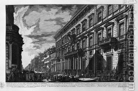Great view of the Curia Innocenziana by Giovanni Battista Piranesi - Reproduction Oil Painting