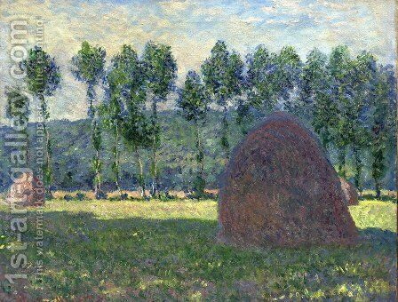 Haystack at Giverny 2 by Claude Oscar Monet - Reproduction Oil Painting