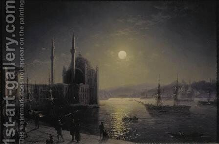 Moonlit Night on the Bosphorus by Ivan Konstantinovich Aivazovsky - Reproduction Oil Painting