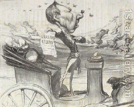 Arrival of the Special Commissioner in Alsace Coco Romieu by Honoré Daumier - Reproduction Oil Painting