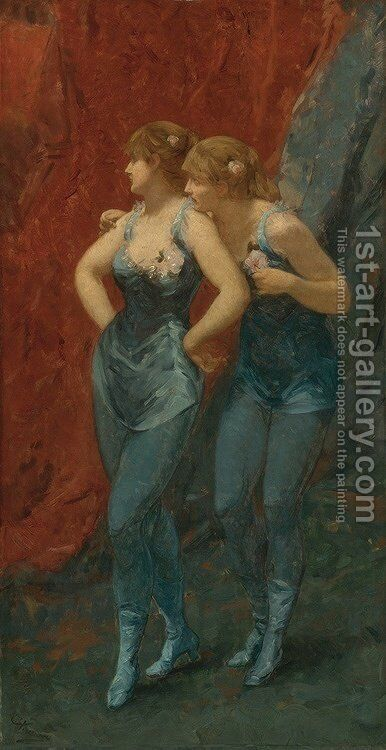 Two Dancers by Charles Hermans - Reproduction Oil Painting