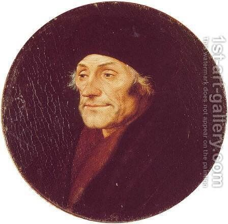 Desiderius Erasmus by Hans, the Younger Holbein - Reproduction Oil Painting