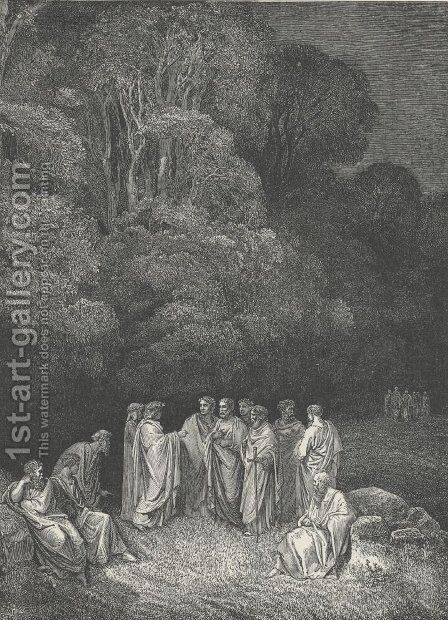 Inferno Canto 4 by Gustave Dore - Reproduction Oil Painting