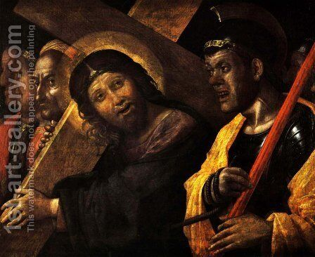 Christ Carrying the Cross by Andrea Mantegna - Reproduction Oil Painting